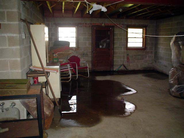 A Flooded Basement Showing Groundwater Intrusion In St. Louis Design Ideas