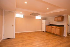 A complete finished basement system in a Carbondale home