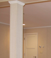 Easy Wrap column sleeves in Decatur basement