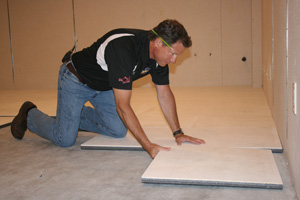 Installing ThermalDry® insulated floor decking in St. Louis