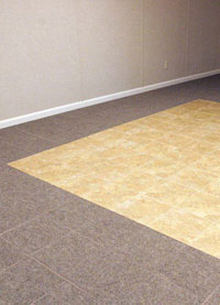 Basement Flooring in a home in Belleville, Illinois & Missouri