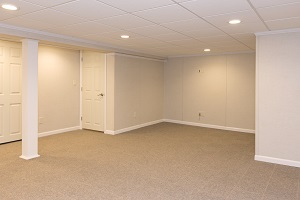 A complete finished basement system in a East Saint Louis home
