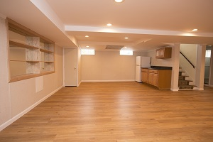 Basement finishing flooring in St. Louis & nearby