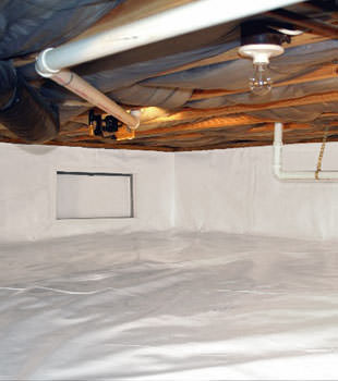 A complete crawl space repair system in Decatur