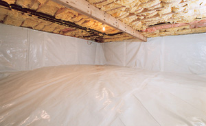 Crawl Space Moisture Barrier After in Springfield