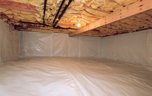 CleanSpace® vapor barrier after in Springfield