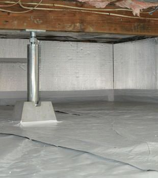 Installed crawl space insulation in Urbana