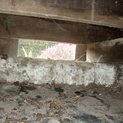 A crawl space vent in Carbondale that's bringing moisture into the home