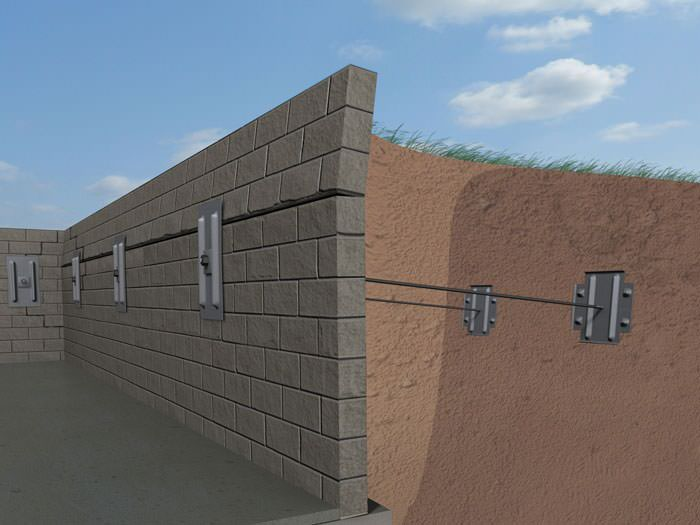 graphic illustration of a foundation wall system installed in poplar