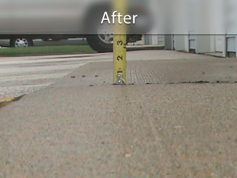 Repairing driveway with concrete leveling in MO & IL