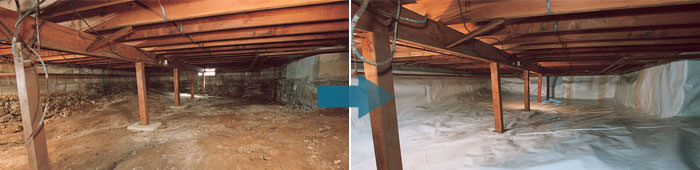 Crawl Space Repair in MO & IL, including Florissant, St. Charles & St. Louis.