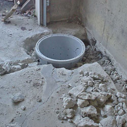 Placing a sump pit in a Fenton home