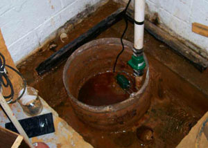 Extreme clogging and rust in a Danville sump pump system