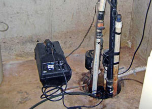 Pedestal sump pump system installed in a home in Cape Girardeau