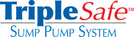Sump pump system logo for our TripleSafe™, available in areas like Washington