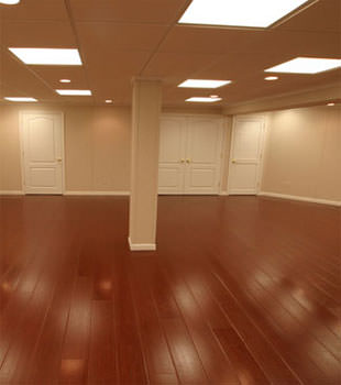 Wood Laminate Basement Floor Finishing In St Louis