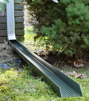 Gutter downspout extension installed in Centralia
