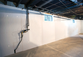 Basement walls after Foamax installation