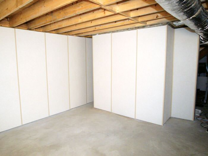 Insulated Basement Wall Panels Installed In MO IL Basement Wall